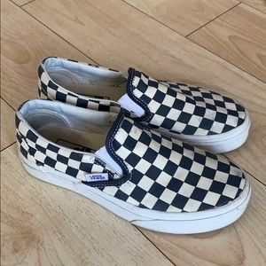 Dark Blue Checkered Vans sz 5.5